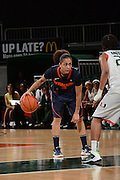 February 20, 2014: Rachel Coffey #3 of Syracuse in action during the NCAA basketball game between the Miami Hurricanes and the Syracuse Orange at the Bank United Center in Coral Gables, FL. The Orange defeated the Hurricanes 69-48.