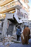 L'Aquila 6 Aprile 2009.Terremoto all'Aquila.La Casa dello Studente  in via XX Settembre.Earthquake to the city of L'Aquila.The Student dormitory in street XX Settembre.