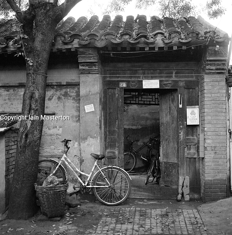 Entrance to old house in a Beijing hutong