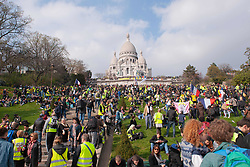 March 23, 2019 - Paris, France - Abandoning the Champs-Elysees forbidden to the demonstration, several thousand ''yellow vests'' marched Saturday in calm in Paris for an act 19 between Denfert-Rochereau and Montmartre (Credit Image: © Laurent Paillier/Le Pictorium Agency via ZUMA Press)
