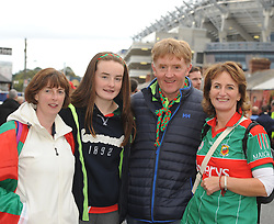 Geena Leamy from Louisburgh, Ava-Jane McLoughlin, Martin McLoughlin and Miriam Kelly from Parke at the All Ireland final replay.<br />