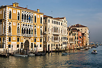 grand canal in the beautiful city of venice in italy