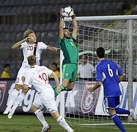 Fotball<br /> VM-kvalifisering<br /> 16.10.2012<br /> Kypros v Norge<br /> Foto: Savvides/Digitalsport<br /> NORWAY ONLY<br /> <br /> Alexander Søderlund - Norge (20)<br /> Tasos Kissas - Keeper Kypros