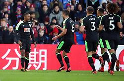 Bournemouth's Jermain Defoe celebrates scoring the opening goal during the Premier League match at Selhurst Park, London.