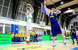 Alen Omic of Slovenia vs Kyryl Natyazhko of Ukraine during friendly basketball match between National teams of Slovenia and Ukraine at day 3 of Adecco Cup 2014, on July 26, 2014 in Rogaska Slatina, Slovenia. Photo by Vid Ponikvar / Sportida.com