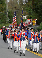 Salisbury Mills, New York - The Coldenham Fife & Drum Corps marches down Route 94 during the Orange County Volunteer Firemen's Association (OCVFA) annual parade on Sept. 24, 2011.