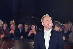 The Voice UK coach Olly Murs arrives for the blind auditions in Salford, Manchester.