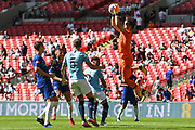 Manchester City Goalkeeper Claudio Bravo (1) collects the ball during the FA Community Shield match between Chelsea and Manchester City at Wembley Stadium, London, England on 5 August 2018. Picture by Stephen Wright.