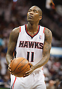24 April 2011: Atlanta's Jamal Crawford in Atlanta Hawks 88-85 victory over the Orlando Magic in Eastern Conference First Round Game 4 at Philips Arena in Atlanta, GA.