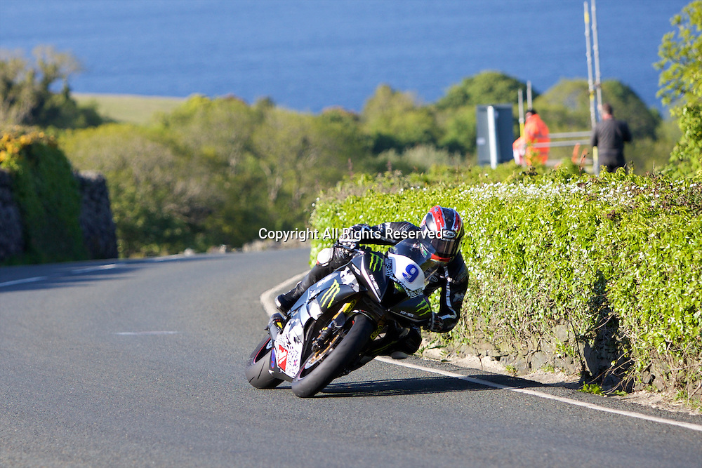 08.06.2015. Douglas, Isle of Man. 2015 Isle of Man TT Races. Ian Hutchinson in action during the TT Supersport race.