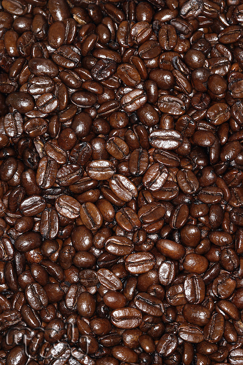 Close-up on coffee beans full frame