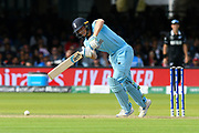 Jos Buttler of England plays an attacking shot during the ICC Cricket World Cup 2019 Final match between New Zealand and England at Lord's Cricket Ground, St John's Wood, United Kingdom on 14 July 2019.
