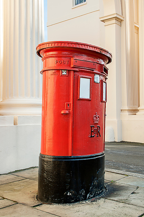 A traditional british post box