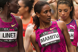 Mamitu Daska at start line of NYRR Oakley Mini 10K for Women