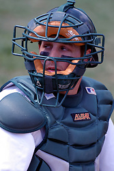 22 April 2006:  ....Titan catcher Josh Bidzinski.....In CCIW, Division 3 action, the Titans of Illinois Wesleyan capped the Auggies of Augustana College by a scor of 3-2 in game one of a double card afternoon.  Games were held at Jack Horenberger field on the campus of Illinois Wesleyan University in Bloomington, Illinois
