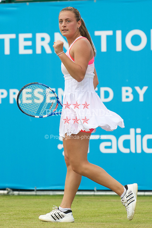 LIVERPOOL, ENGLAND - Thursday, June 17, 2010: Ana Bogdan (ROM) during the Ladies' Singles on day two of the Liverpool International Tennis Tournament at Calderstones Park. (Pic by David Rawcliffe/Propaganda)