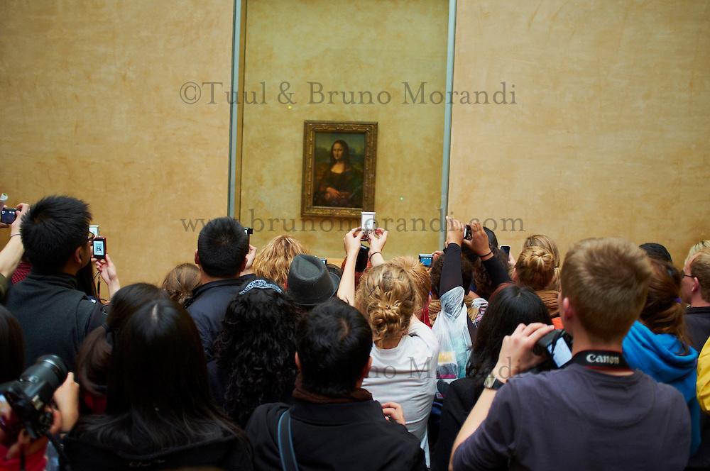 France, Paris, musee du Louvre, la Joconde de Leonard de Vinci // France, Paris, Louvre museum, the Joconde from Leonardo da Vinci