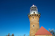 The Barranjoey Lighthouse was the third light on the headland and was completed in 1881. The views from the lighthouse are spectacular of Palm Beach, Sydney, Australia.