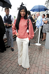VANESSA MAE at the 3rd day of the 2008 Glorious Goodwood racing festival at Goodwood Racecourse, West Sussex on 31st July 2008.<br /> <br /> NON EXCLUSIVE - WORLD RIGHTS