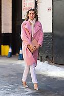 Pink Coat, Outside Peter Som