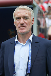 June 26, 2018 - Moscow, Vazio, Russia - Coach Didier Deschamps during the game between Denmark and France valid for the third round of group C of the 2018 World Cup, held at the Luzhniki Arena in Moscow in Russia. Denmark 0-0 France  (Credit Image: © Thiago Bernardes/Pacific Press via ZUMA Wire)