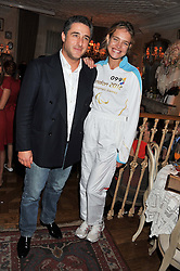 LUCA DEL BONO and NATALIA VODIANOVA at an afternoon tea party in aid of the Naked Heart Foundation held at Mari Vanna, Wellington Court, 116 Knightsbridge, London on 29th August 2012.