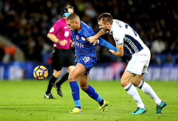 Islam Slimani of Leicester City goes past Craig Dawson of West Bromwich Albion - Mandatory by-line: Robbie Stephenson/JMP - 06/11/2016 - FOOTBALL - King Power Stadium - Leicester, England - Leicester City v West Bromwich Albion - Premier League