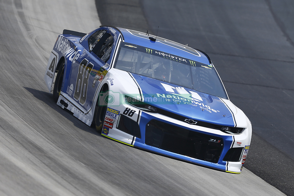 May 4, 2018 - Dover, Delaware, United States of America - Alex Bowman (88) brings his car through the turns during practice for the AAA 400 Drive for Autism at Dover International Speedway in Dover, Delaware. (Credit Image: © Chris Owens Asp Inc/ASP via ZUMA Wire)
