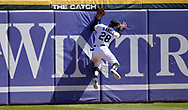 CHICAGO - APRIL 09:  Leury Garcia #28 of the Chicago White Sox leaps but cannot catch the ball during the game against the Tampa Bay Rays on April 9, 2019 at Guaranteed Rate Field in Chicago, Illinois.  (Photo by Ron Vesely)  Subject:   Leury Garcia