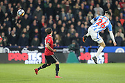 Huddersfield's Christopher Schindler(Capt) during the The FA Cup match between Huddersfield Town and Manchester United at the John Smiths Stadium, Huddersfield, England on 17 February 2018. Picture by George Franks.