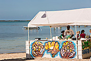 Beach bar in Dunmore Town, Harbour Island, The Bahamas.