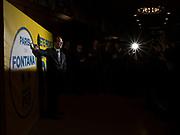 Stefano Parisi, candidato del centro-destra alle elezioni regionali nel Lazio, durante un incontro elettorale a MIlano. Milano, 8 febbraio 2018. Guido Montani / OneShot<br /> <br /> Stefano Parisi, center-right candidate for the regional elections in Lazio attends an electoral event. Milan, 8 february 2018. Guido Montani / OneShot