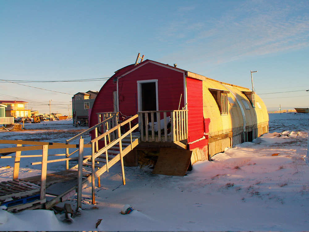 Barrow, Alaska. Quonset Hut used as home in Browerville.