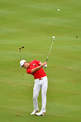 KUALA LUMPUR, Jan. 14, 2018  Team Asia's Li Haotong competes during the EurAsia Cup 2018 at the Glenmarie Golf and Country Club in Kuala Lumpur, Malaysia, on Jan. 14, 2018. Team Europe won 14-10. (Credit Image: © Chong Voon Chung/Xinhua via ZUMA Wire)