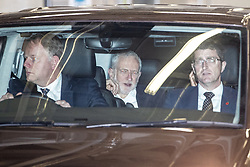 © Licensed to London News Pictures. 19/11/2019. Salford, UK. JEREMY CORBYN leaves after the show . Conservative Party leader Boris Johnson and Labour Party leader Jeremy Corbyn attend a televised election hustings at ITV Studios at Media City as part of their respective campaigns to win the upcoming general election and become the next British Prime Minister . Photo credit: Joel Goodman/LNP