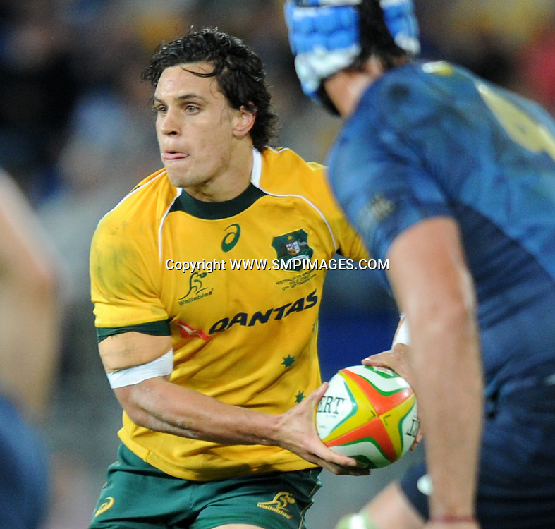 MATT TOOMUA - AUSTRALIA -  PHOTO: SCOTT DAVIS - SMPIMAGES.COM - AUSTRALIA V ARGENTINA, 13th SEPTEMBER 2014 - Images from the Australian Wallabies V Argentina Pumas Rugby Championships test match, being played at  CBUS Super Stadium, Robina, Gold Coast. This image is for Editorial Use Only. Any further use or individual sale of the image must be cleared by application to the Manager Sports Media Publishing (SMP Images). PHOTO : Scott Davis SMP IMAGES