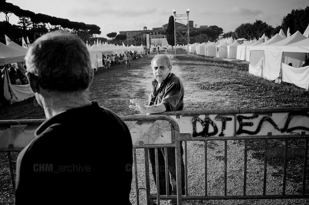 Sostenitori  alla  festa del Movimento 5 Stelle al Circo Massimo. <br /> Roma 12 Ottobre 2014 Daniele Stefanini /  OneShot