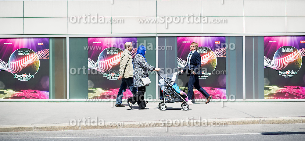 07.05.2015, Stadthalle, Wien, AUT, Eurovision Songcontest Vienna 2015, im Bild Stadthalle // during preperation for Eurivision Songcontest Vienna 2015 at Stadthalle in Vienna, Austria on 2015/05/07, EXPA Pictures © 2015, PhotoCredit: EXPA/ Michael Gruber