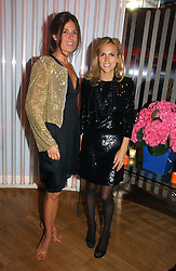 Left to right, ELIZABETH SALTZMAN and designer TORY BURCH at a party hosted by Elizabeth Saltzman and Harvey Nichols to celebrate the UK launch of New York fashion designer Tory Burch held at the Fifth Floor Restaurant, Harvey Nichols, Knightsbridge, London on 24th May 2006.<br /><br />NON EXCLUSIVE - WORLD RIGHTS