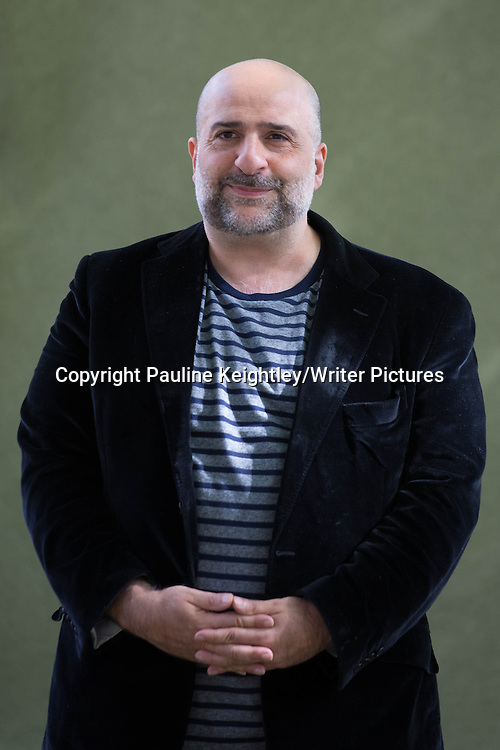 Omid Djalili, British-Iranian comedian, actor and writer, gave a talk on his memoir A Particulary British Upbringing, at Edinburgh International Book festival 2014. 22nd August 2014. <br /> <br /> Picture by Pauline Keightley/Writer Pictures