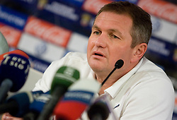 Head coach of Slovenia Matjaz Kek at press conference a day before FIFA World Cup 2010 Qualifying match between Russia and Slovenia, on November 13, 2009, in Stadium Luzhniki, Moscow, Russia.  (Photo by Vid Ponikvar / Sportida)