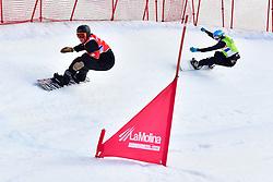 MASSIE Alex, SB-LL2, CAN, MILLER Zach, USA, Snowboard Cross at the WPSB_2019 Para Snowboard World Cup, La Molina, Spain