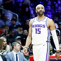 13 January 2018: Sacramento Kings guard Vince Carter (15) is seen during the LA Clippers 126-105 victory over the Sacramento Kings, at the Staples Center, Los Angeles, California, USA.