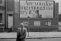 Graffiti. Taken whilst on the Peoples March for Jobs, Wellingborough to Northampton leg, 22 May 1981