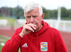 May 31, 2018 - London, United Kingdom - Sandor Istvan Head Coach of Karpatalya .during Conifa Paddy Power World Football Cup 2018  Group B match between Northern Cyprus against Karpatalya at Queen Elizabeth II Stadium (Enfield Town FC), London, on 31 May 2018  (Credit Image: © Kieran Galvin/NurPhoto via ZUMA Press)