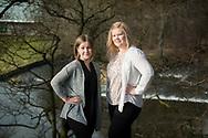 Kati Kononen (L) and Iina Janhunen (R) Finnish trainee nurses based in Aberdeen, Scotland.