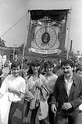Armthorpe banner, 1983 Yorkshire Miner's Gala. Barnsley