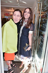 Left to right, EMILIA WICKSTEAD and TANIA FARES at a party to launch Biscuiteers Fashion Biscuit Collection inspired by Alice Naylor-Leyland's wardrobe held at Biscuiteers, 194 Kensington Park Road, London W11 on 23rd June 2015.