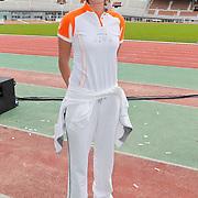 NLD/Amsterdam/20120306 - Presentatie olympisch team NUON - NOC-NSF Vattenfall, beachvolleybalster Sanne Keizer