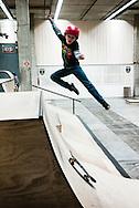 nederland, enschede 28feb2015  skater in de voormalige polaroidfabriek in enschede